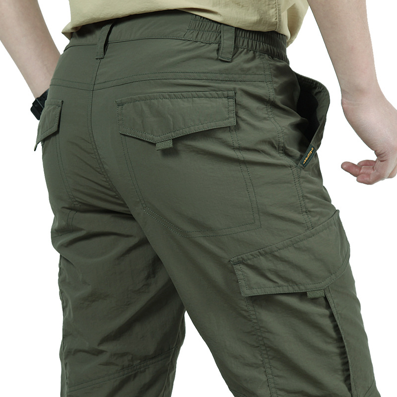 Quick-Drying Cargo Pants Men Lightweight Summer Military Breathable Waterproof Tactical Pants Men's Trousers Cargo Pants Male