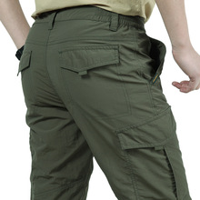 Quick-Drying Cargo Pants Men Lightweight Summer Military Breathable Waterproof T