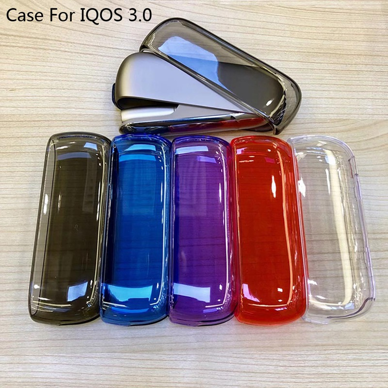 Transparent Case E Cigarette Protective Cover Hard Case For IQOS 3