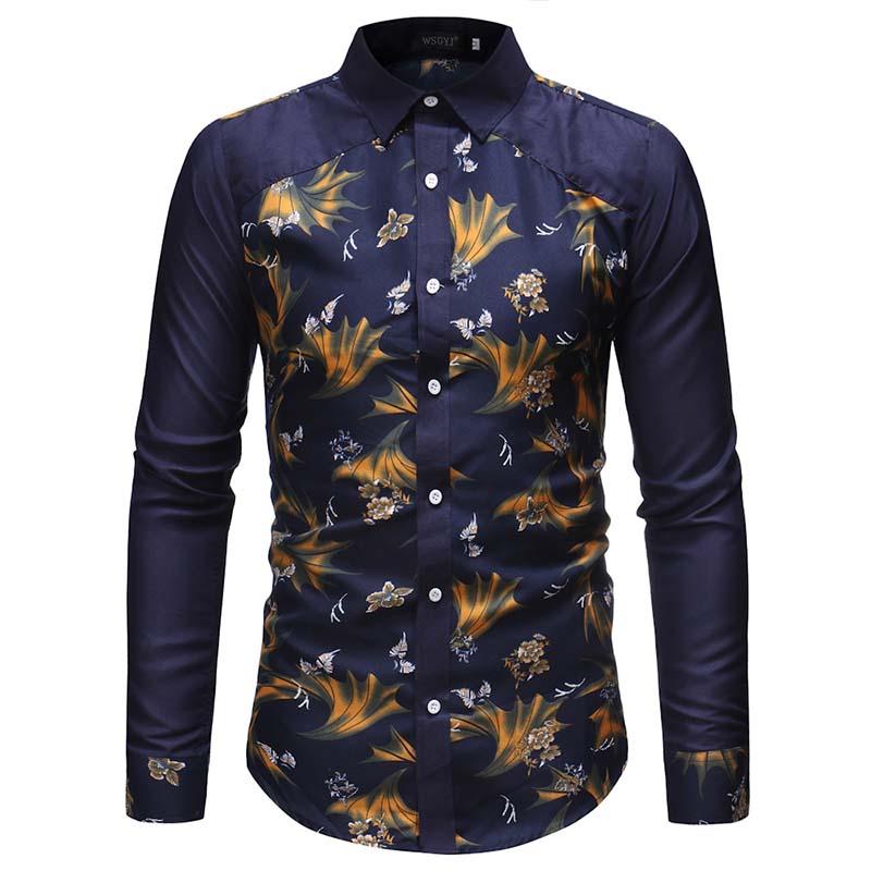 Camisa de flores 2019 nueva marca de hombre camisa de moda - Marcas de ropa casual ...