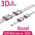 Коссель для 9 мм Линейная Направляющая MGN9 L 400 мм линейных железнодорожных + MGN9H длинные линейные перевозки для ЧПУ Xyz Оси 3d принтер части