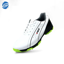 Spring The New Head Layer Cowhide Golf Shoes Skid Men Sports Patent Lightweight Waterproof Freeshipping Golf Shoes(China)