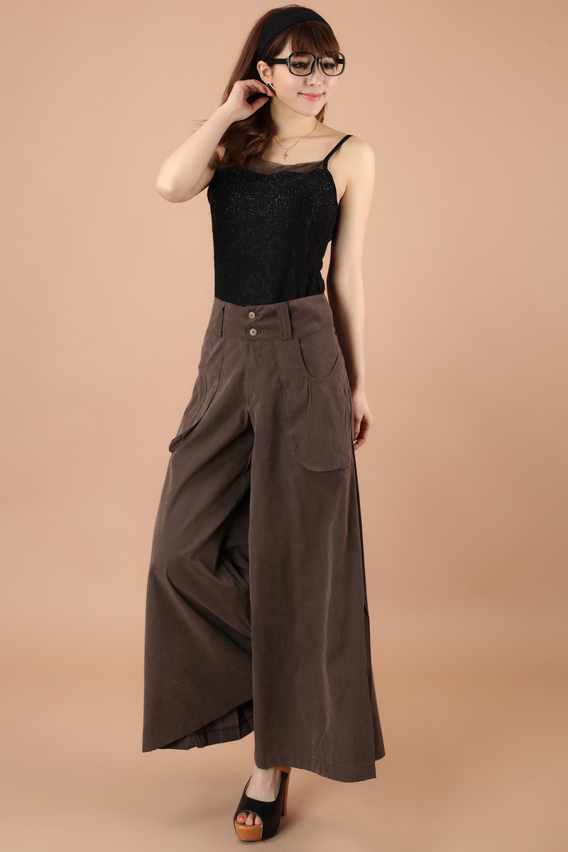 d464e95b84 1Pcs Women Pants Falda Pantalon 2019 New Brand Design Wide Leg Pants S--8XL  Larger Size Thin Women Trousers Cotton