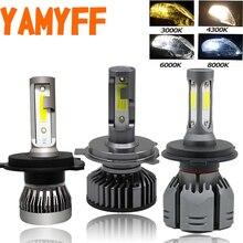 YAMYFF 2 Pcs H4 LED H7 Canbusไฟหน้ารถ 3000K 4300K 6500K 8000KหลอดไฟอัตโนมัติH1 h3 H11 H27 880 9005 9006 Minไฟหน้าหมอก