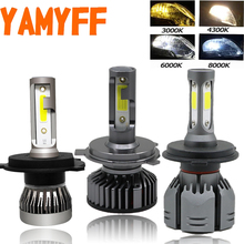 Yamyff 2 Pcs H4 Led H7 Canbus Auto Koplamp 3000K 4300K 6500K 8000K Lamp Auto H1 h3 H11 H27 880 9005 9006 Min Koplamp Mistlamp