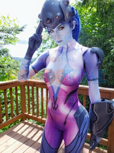 2019 Newest Widowmaker Costume Video Game Overwatch Girl Superhero Cosplay Zentai Body Suit