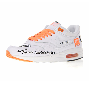 Nike Air Max 1 Just Do It  Men's and Women's Running Shoes , White, Shock Absorbing  Breathable  Lightweight 917691 100 1