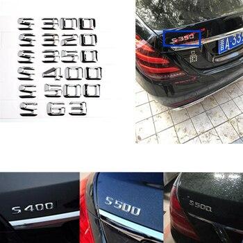 W140 S300 S320 S500 S350 S400 S63 W245 наклейка на крышку багажника номер Серебряная наклейка на машину для Mercedes Benz W220 W221 W222 AMG