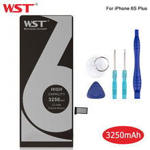 цена на WST Original Battery For Apple iPhone 6S Plus High Capacity 3250mAh Lithium Polymer Replacement Battery For iPhone 6S Plus
