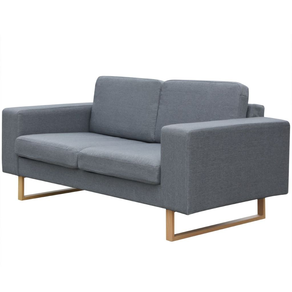 vidaXL 2 Seater Sofa Fabric Light Gray-in Living Room Sofas from Furniture  on Aliexpress.com | Alibaba Group