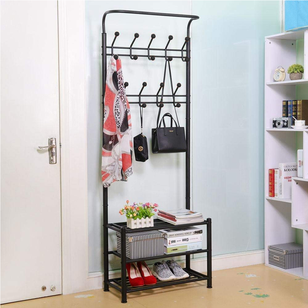 New Multifunctional 3 layer Shoe Racks and Clothes Organizer Stand Up Storage Holders Living Room Bedroom