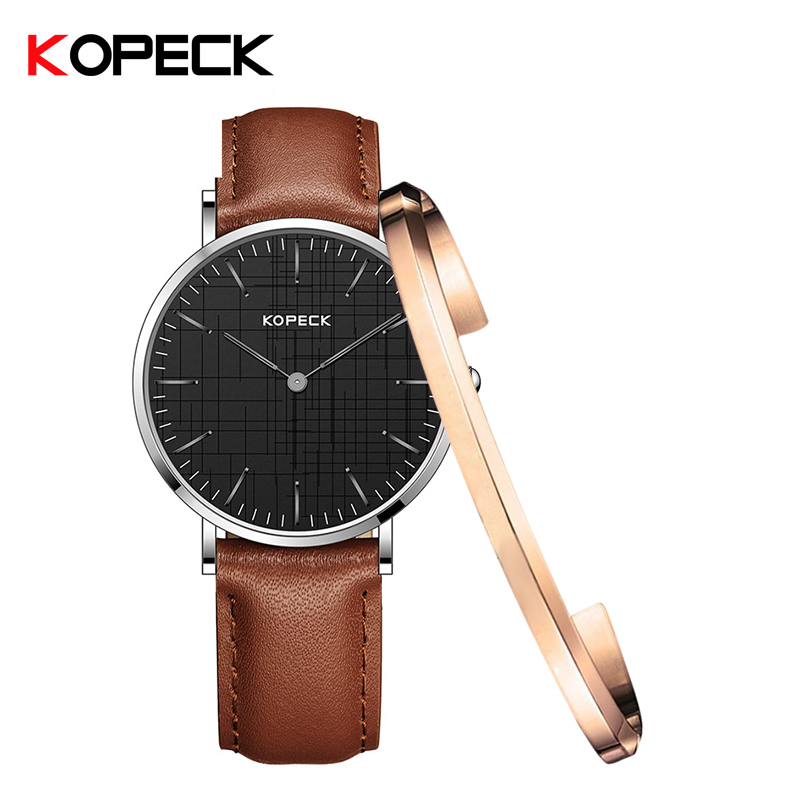 KOPECK 2018 Silver Watch Women Quartz Watches With Bracelet Ladies Brand Luxury Female Wrist Watch Girl