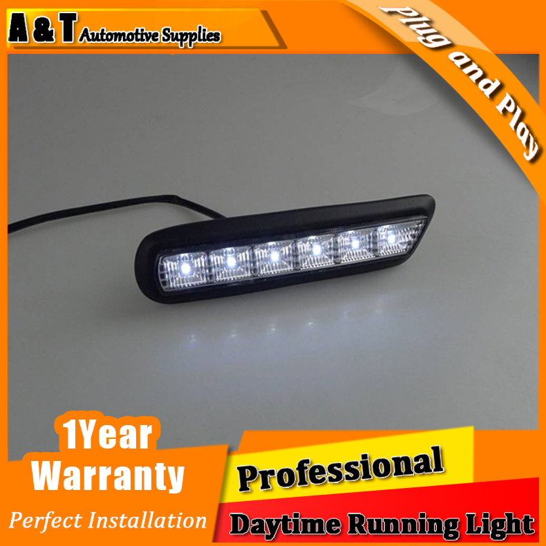 Car styling For strength dazzle ASX LED DRL For strength dazzle ASX High brightness guide LED DRL led fog lamps DRL Car Accessor