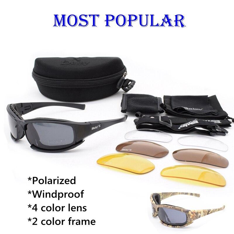 Óculos de Proteção Óculos De Sol Dos Homens do exército Militar óculos de Sol MARGARIDA Masculino 4 Lente Kit Para O Jogo de Guerra Óculos Táticos Ao Ar Livre dos homens