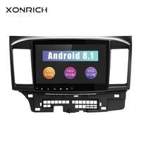 Xonrich dvd плеер автомобиля 2 Din для Mitsubishi Lancer X 9 Android 8,1 2008 2015 10,1 дюймов 3g/4G аудио стерео gps Радио Видео Wi Fi