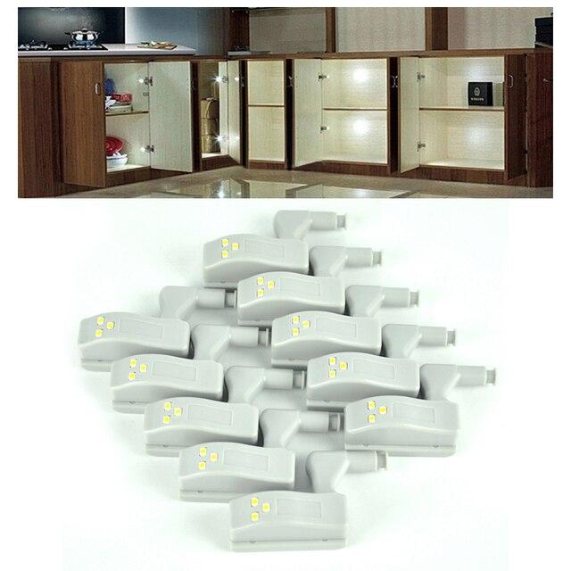 10 unids Universal Sistema de Blanco LLEVÓ La Luz Del Armario Del Gabinete Bisagra Armario Casa Moderna Lámpara de La Cocina