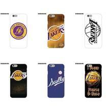 3e165e633ffe EJGROUP Los Angeles Lakers Basketball Team Logo For Apple iPhone X 8 7 6S 6  SE 5C 5S 5 4S 4 Plus Soft Capa Coque
