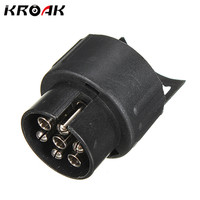 12V 7 To 13 Pins Plug Adapter Electrical Converter Truck Trailer Connector Standard Round Hole Trailer