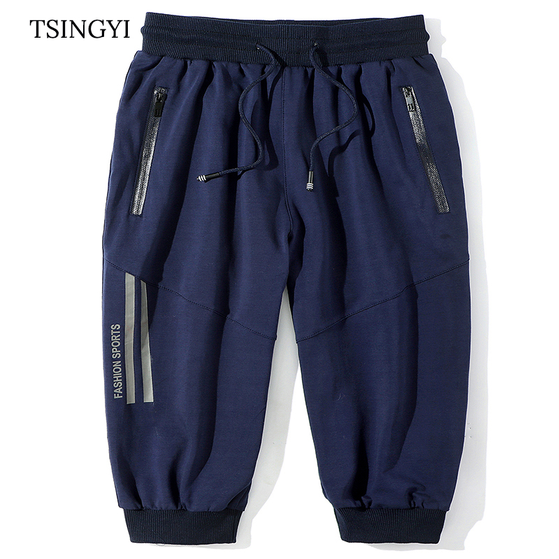 Tsingyi 9XL 150KG Big size Men Summer Beach Solid Mid Waist Shorts Men Cotton Knee Length Homme Casual Mens Shorts Sweatpants ...