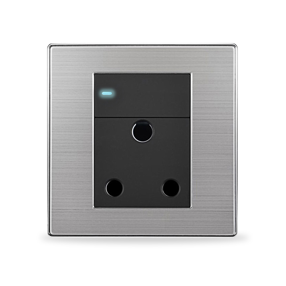 Wall night lamp online india - 1 Gang 2 Way Light Switch With 15a India Or South African Standard Power Socket Luxury