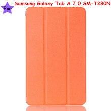 """Imán flip cubierta de cuero de la pu case para samsung galaxy tab a 7.0 sm-t280n t280 t285 7 """"tablet case smart cover"""