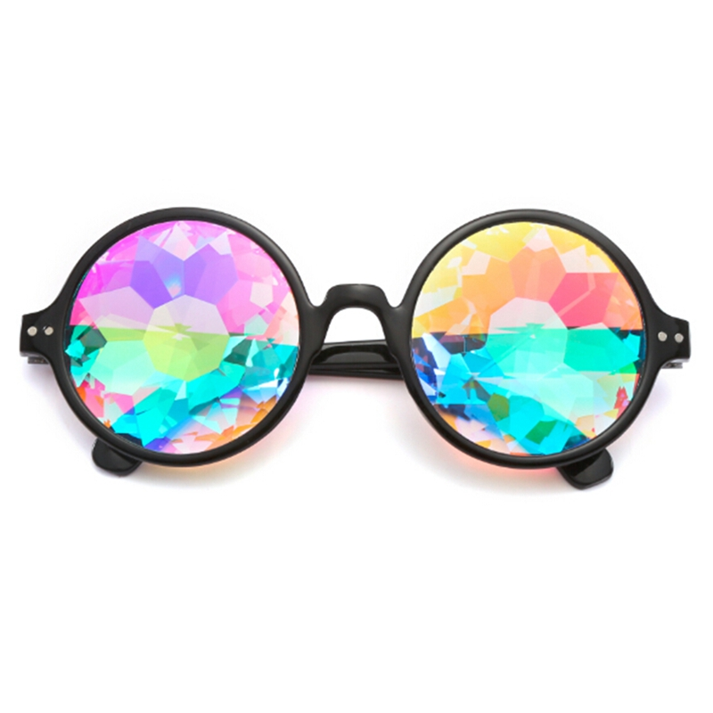 Kaleido Scope Glasses Rave Sunglasses Festival Diffracted Rainbow Hippy Retro