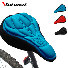 VICTGOAL Bicycle Saddle Cover Bike Seat Cushion 3D Sillicone Gel Pad Breathable Cover Road Mountain Bike Cycling Parts