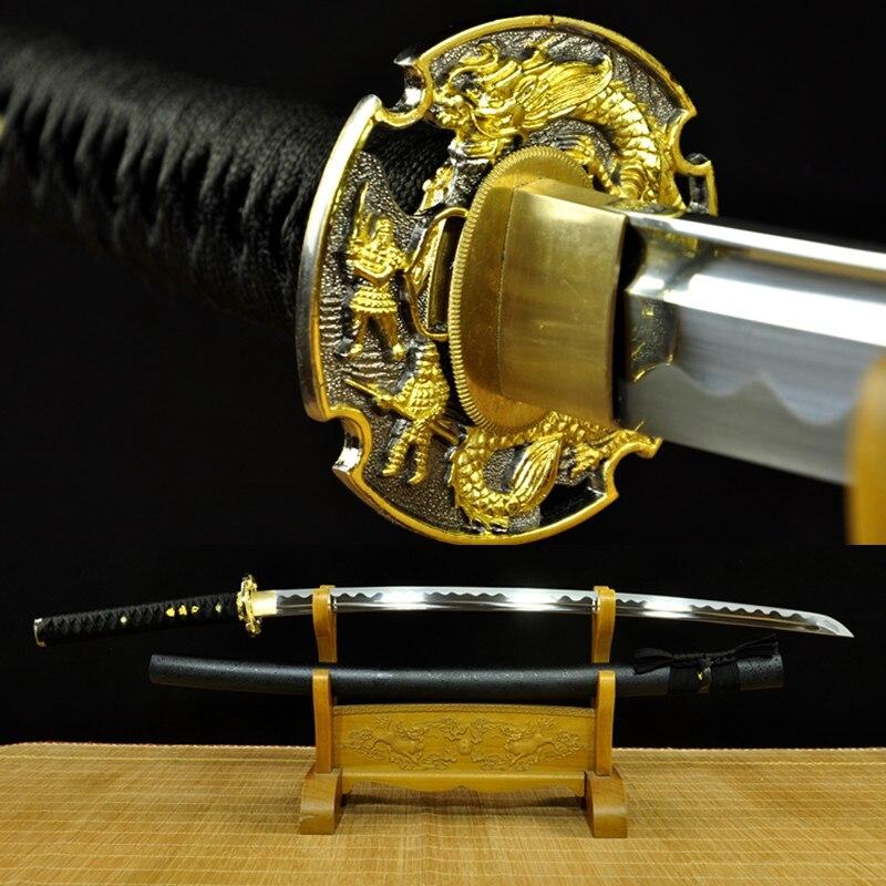 Forge à la main 9260 acier à ressort japonais samouraï épée katana pleine lame tranchante