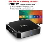 X96 mini IPTV Subscription 1 Year Free Android 7.1 TV BOX Arabic IPTV Italia france Android TV BOX Amlogic S905W Chip