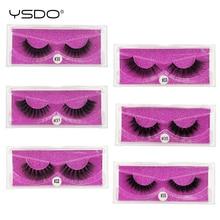 лучшая цена YSDO 1 pair mink lashes hand made 3d false lashes natural eyelashes 3d mink eyelashes faux cils mink strip eyelashes 3d lashes