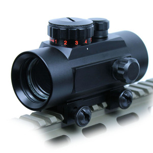 Tactical 1X40 Green / Red Dot Sight 5 MOA Reticle Scope w/ 20mm Rail Mount for Airsoft Hunting outdoor