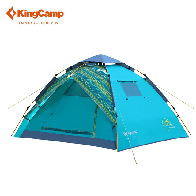 KingC& Blue Portable Travelling Double-layer C&ing Tent 3-Person 2-Season Easy  sc 1 st  AliExpress.com & Aliexpress.com : Buy KingCamp Blue Portable Travelling Double ...