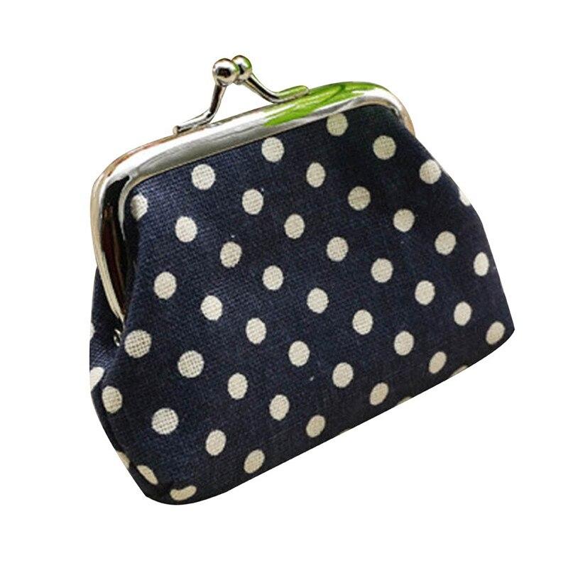 Hot Sale Cheap Price Cute Women Ladies Small Mini Coin Purse Dots Print Hasp Wallet Card Holder Girls Handbag Bag