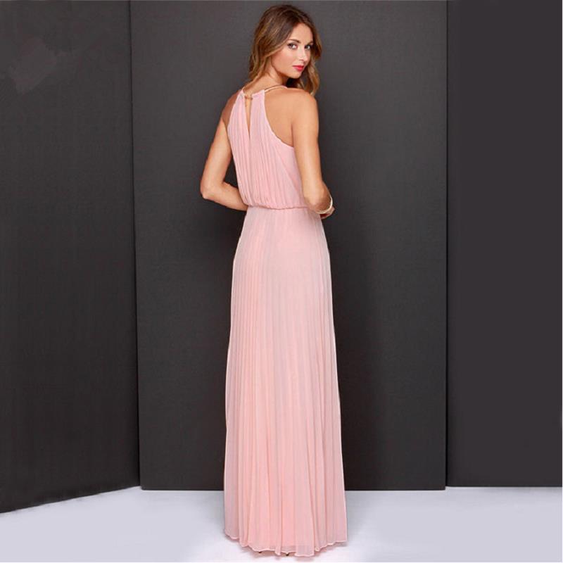 Langes kleid rosa pink