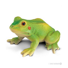 Original Simulation Animal Figurine Model Toy Green Frog Figure Doll PVC Collectible Figure Educational Toy Kids Gifts