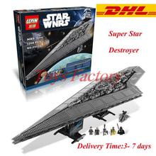 2016 Nueva LEPIN 05028 Star Wars Execytor Super Star Destroyer Modelo Kit de Construcción Minifigure Juguete del Ladrillo Regalo Compatible 10221