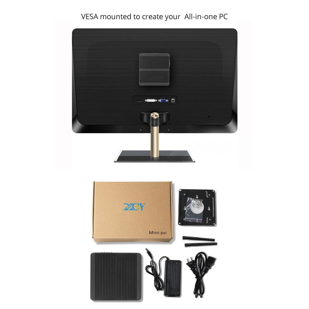 Image 5 - XCY мини ПК Intel Celeron 3855U Windows 10 WiFi HDMI VGA 6 * USB HTPC безвентиляторный компактный офисный компьютер-in Мини-ПК from Компьютер и офис