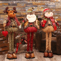 Natal Retractable Standing 43 76cm Christmas Doll Christmas Decoration Large Santa Claus Snowman Elk Doll Kids New Year Gift Toy