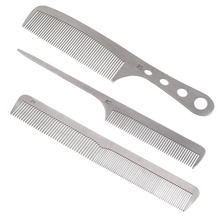 Beauty Stainless Steel Ultra Thin Salon Hair Styling Hairdresser Barber Combs