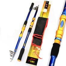 Carbon Portable Telescopic Fishing Rod Carp Fish Sea Pole Fishing Tackle 2.1 / 2.4 / 2.7 / 3.0 / 3.6 Meter