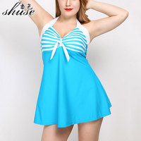 One Piece Swimwear Plus Size Bathing Suit For Fat Women Sexy Swimming Dress Padded Swimsuit Female