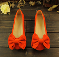 2015 moda primavera verano mujeres del arco solos zapatos planos del talón de fondo ballet suaves planos de trabajo zapatos de mujer mocasines tamaño grande 35-43
