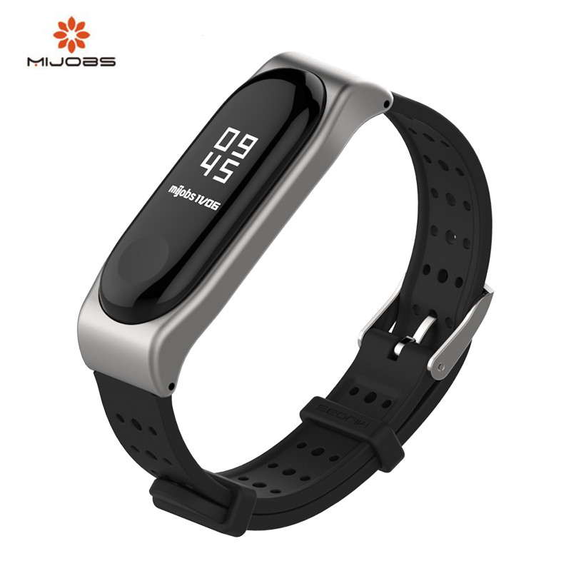 New Mijobs Mi Band 3 Strap Sports youth Strap xio Mi band 3 Wristband Replacement Smart band Accessories For Xiaomi MiBand 3 replacement original sports leather wristband band strap metal case cover for xiaomi mi band 3 bracelet accessories 10jul 13