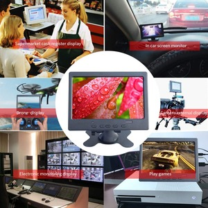 """Image 5 - 7"""" LCD Touch Monitor for Raspberry Pi HDMI+VGA+AV Interface Display Capacitive Touch Screen Module Car Backup Reverse"""