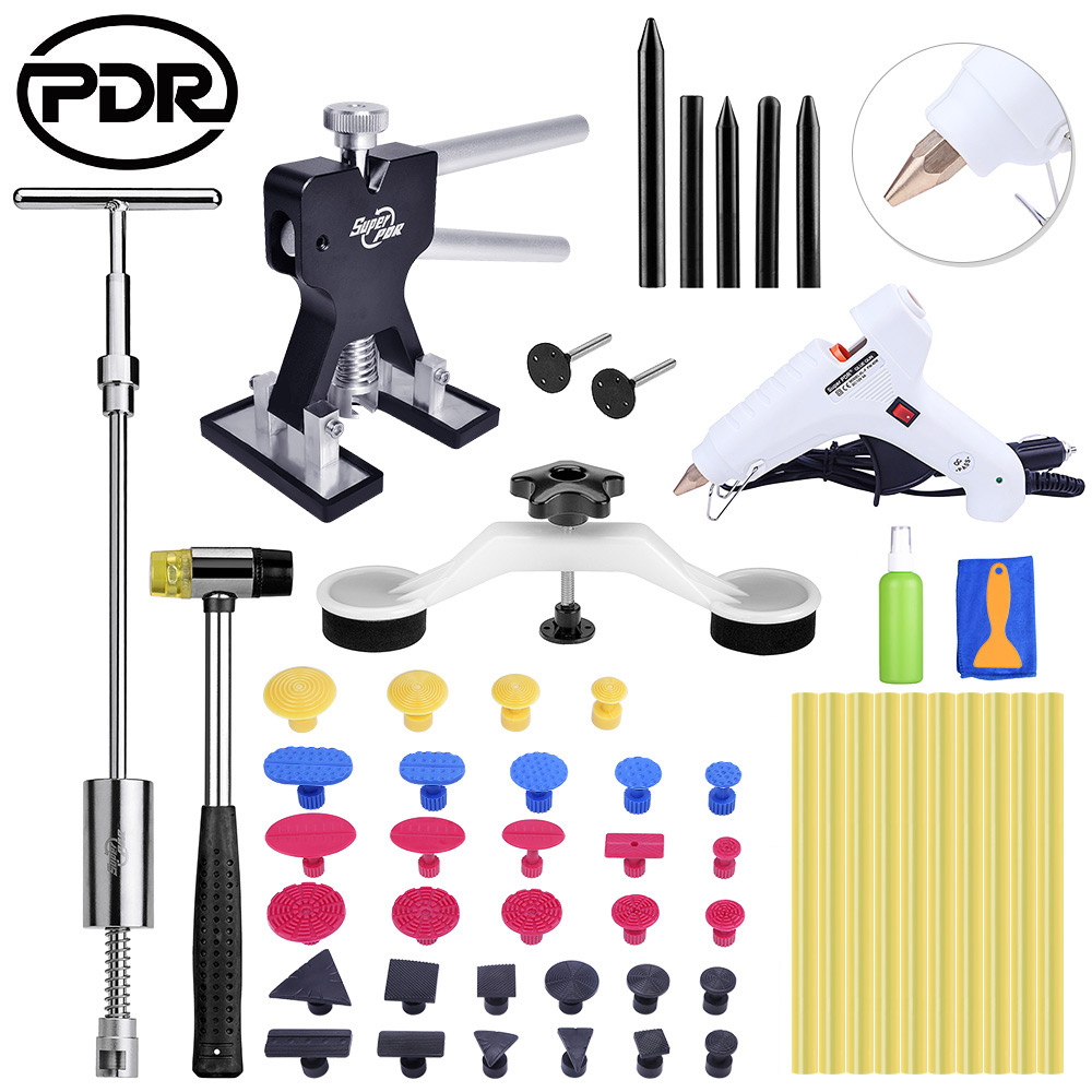 Car Body Repair PDR Tools Paintless Dent Removal Tool To Remove Dents Removing Dents Ding Hail Repair Hand Tool Set 14pcs the key with combination ratchet wrench auto repair set of hand tool kit spanners a set of keys herramientas de mano