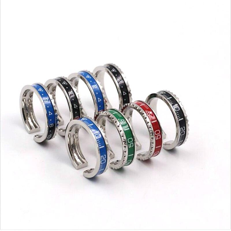 10 pièces mixte Style ltalien nouveau bijoux 316L en acier inoxydable manchette compteur de vitesse anneau officiel 36 couleur