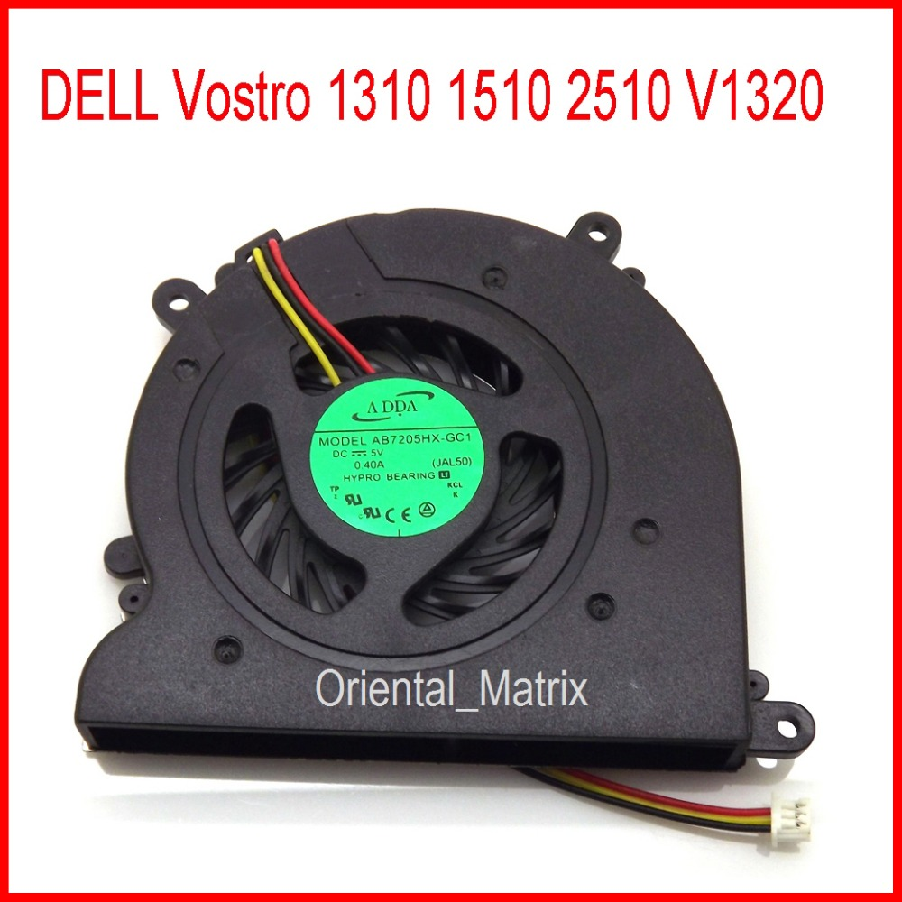 Free Shipping Original New Ab7205hx Gc1 Dc5v 04a For Dell Vostro Karpet Spiral Spin Hitam V1320 1310 1510 2510 Laptop Cpu Cooler Cooling Fan