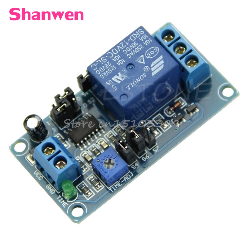 DC 12V Delay Relay Delay with Timer Turn on Delay Turn off Switch Module G08 Drop ship dc 12v led display digital delay timer control switch module plc automation new