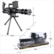 new manual series water play gatling gun soft toy gun simulation model of children play outdoors live-action CS toys