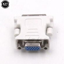 Alta Qualidade DVI AO conector VGA DVI-I 24 + 5 Pin VGA Macho para DVI Masculino Conversor Adaptador de Vídeo para PC laptop